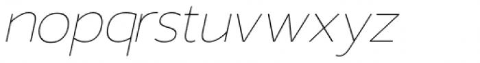 US Bill Sans Extra Light Slant Font LOWERCASE