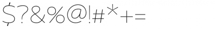 US Bill Sans Extra Light Font OTHER CHARS