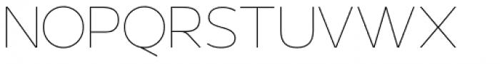 US Bill Sans Extra Light Font UPPERCASE