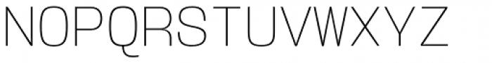 User ExtraLight Font UPPERCASE