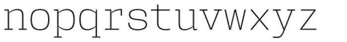 User ExtraLight Font LOWERCASE