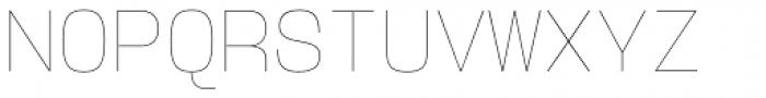 User Hairline Font UPPERCASE