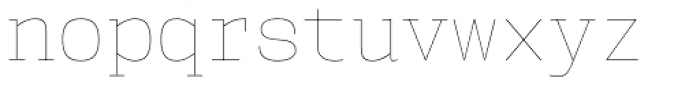 User Hairline Font LOWERCASE