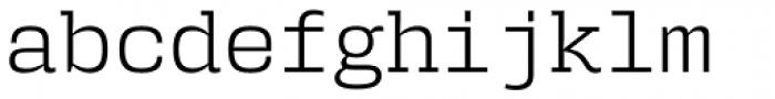 User Light Font LOWERCASE