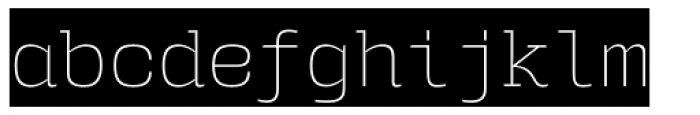 User Upright ExtraLight Cameo Font LOWERCASE