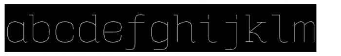 User Upright Hairline Cameo Font LOWERCASE