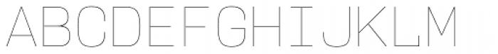 User Upright Hairline Font UPPERCASE