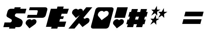 Utonium Italic Font OTHER CHARS