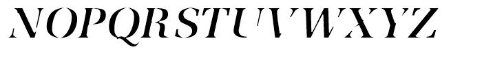 Utile Caustic Italic Font UPPERCASE