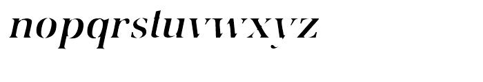 Utile Caustic Italic Font LOWERCASE