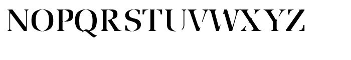 Utile Caustic Font UPPERCASE