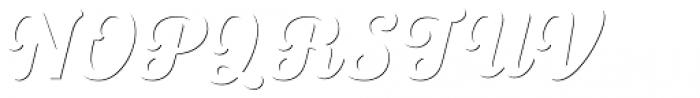 UT Triumph Shadow Font UPPERCASE