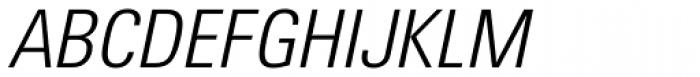 Utah WGL Condensed Light Italic Font UPPERCASE