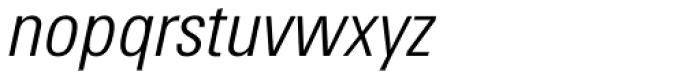 Utah WGL Condensed Light Italic Font LOWERCASE
