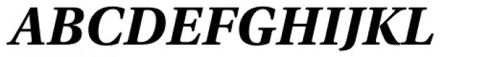 Utopia Bold Italic Font UPPERCASE