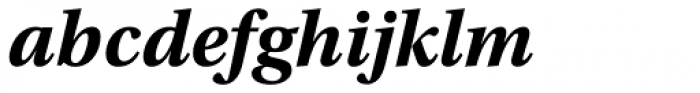 Utopia Bold Italic Font LOWERCASE