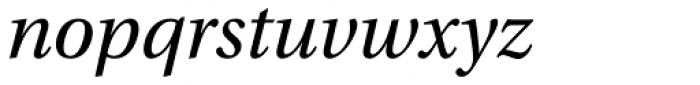 Utopia Italic Font LOWERCASE