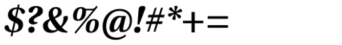 Utopia SemiBold Italic Font OTHER CHARS