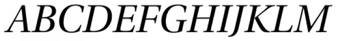 Utopia SubHead Italic Font UPPERCASE