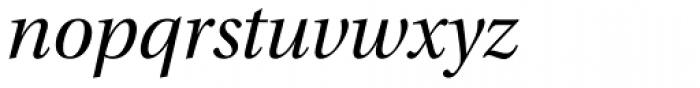 Utopia SubHead Italic Font LOWERCASE