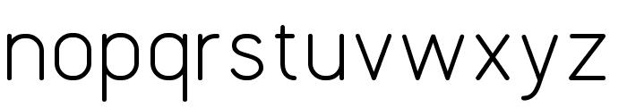 UVFLHLine1SansThin Font LOWERCASE