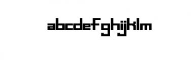Uzi - Modern, futuristic, sans serif font Font LOWERCASE