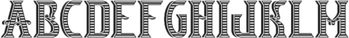 V_Bourbon TextureAndShadow otf (400) Font UPPERCASE
