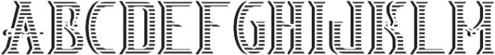 V_Bourbon TextureAndShadowFX otf (400) Font LOWERCASE