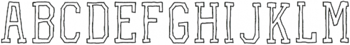 VA-RoughOutline Block otf (400) Font UPPERCASE