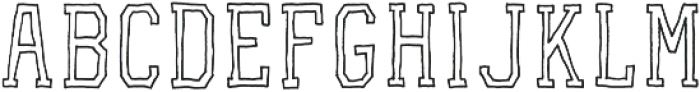 VA-RoughOutline Block otf (400) Font LOWERCASE