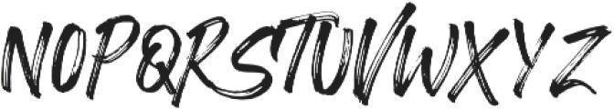 Vacations Brush otf (400) Font UPPERCASE