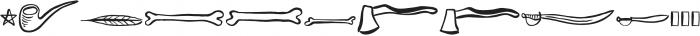 Vagabundo Elements otf (400) Font UPPERCASE