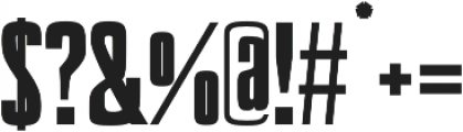 Valencia Extra Bold otf (700) Font OTHER CHARS