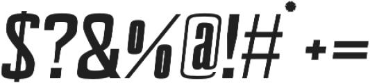 Valencia Slant Bold otf (700) Font OTHER CHARS