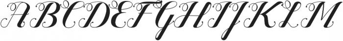 Valentijn Regular otf (400) Font UPPERCASE