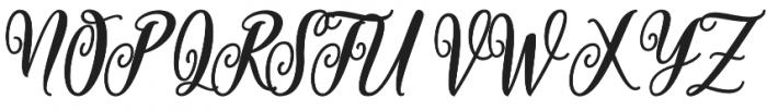Valentine Script otf (400) Font UPPERCASE