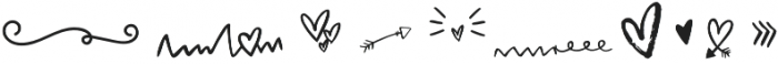 Valentine Symbol Font Symbols otf (400) Font UPPERCASE