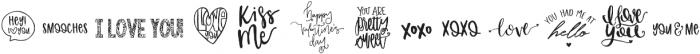 Valentine Symbol Font Symbols otf (400) Font LOWERCASE