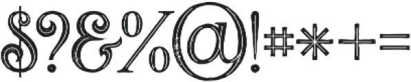 Valeria Bold Inline Grunge otf (700) Font OTHER CHARS
