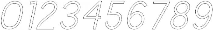 Valued Regular Outline Italic otf (400) Font OTHER CHARS