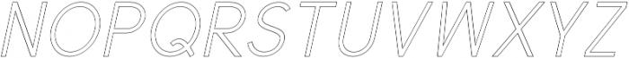 Valued Regular Outline Italic otf (400) Font UPPERCASE