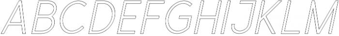 Valued Regular Outline Italic otf (400) Font LOWERCASE