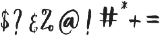 Vamellia Alt Regular otf (400) Font OTHER CHARS