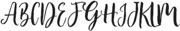 Vamellia Alt Regular otf (400) Font UPPERCASE