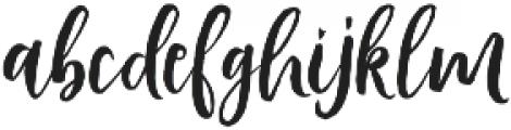 Vamellia Alt Regular otf (400) Font LOWERCASE