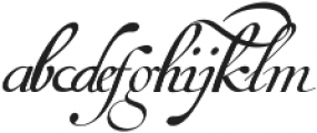 Van den Velde Script Pro ttf (400) Font LOWERCASE