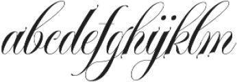 VanKieu otf (400) Font LOWERCASE