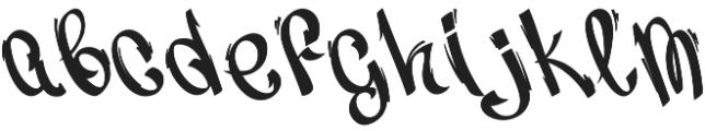 Vandal Display otf (400) Font LOWERCASE