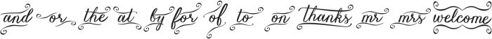 Vanessa Catchword Regular ttf (400) Font UPPERCASE