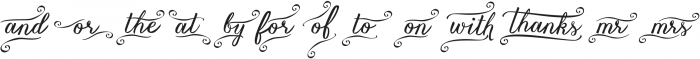 Vanessa Catchword Regular ttf (400) Font LOWERCASE